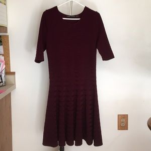 Maroon Ivanka Trump Dress